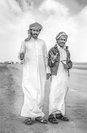 Madinat Zayed, United Arab Emirates, 22nd December, 2018: bedouins at The Million Street