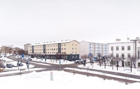 aerial view of city centre Rakvere in Laane Viru County of Estonia