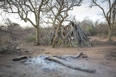 hadzabe homes and their fireplace