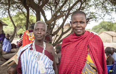 Same, Tanzania, 4th June 2019: maasai women in traditional clothing Editorial