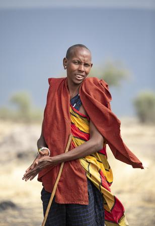 Arusha, Tanzania, 7Th September 2019: Maasai warriors in the nature of northern Tanzania