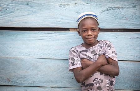 Same, Tanzania, 6th June, 2019:  african boy in a village of Tanzania