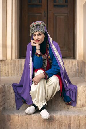 beautiful young iranian lady in traditional clothing