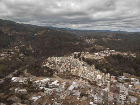 aerial view of Chichicastenango in Guatemala Stok Fotoğraf