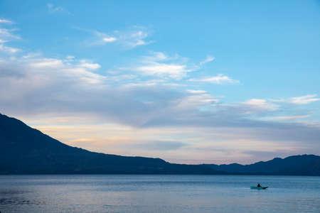 fisherman on the Lake Atitlan in Guatemala