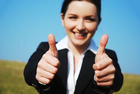 satisfied customer: Thumbs Up!
