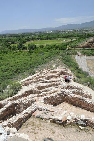 indian artifacts: Sinagua Indian Ruins in Arizona Stock Photo