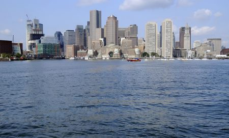 View of Downtown Boston from Boston Harbor