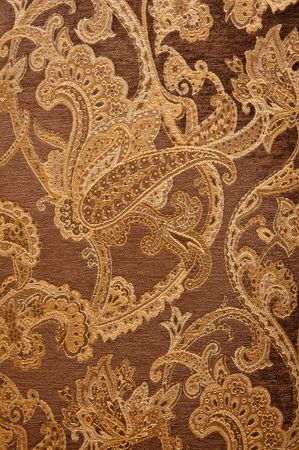 brown: material of brown paisley pattern