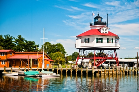 Historic Drum Point Lighthouse in Solomons Maryland  photo