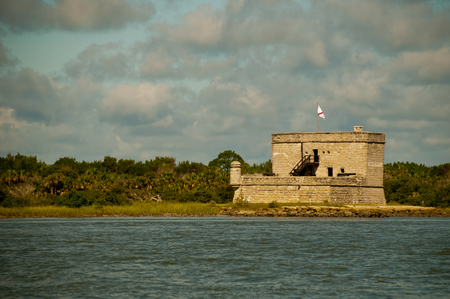 color photograph of Fort Matanzas in Saint Augustine Florida USA on a sunny day