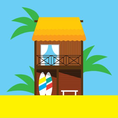 condo: Beach bungalow illustration