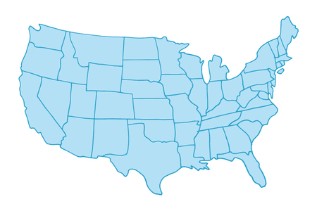 Hand drawn USA map