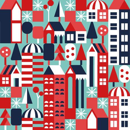 Vector pattern. City illustration Illustration