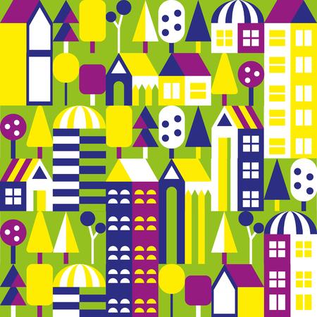nighttime: Vector pattern. City illustration Illustration