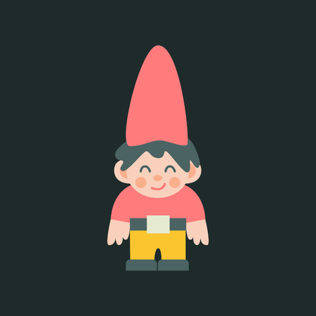 Garden dwarf figure vector illustration