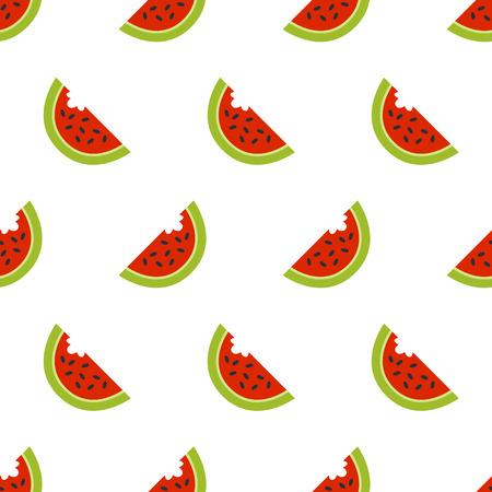 Watermelon seamless vector pattern flat style