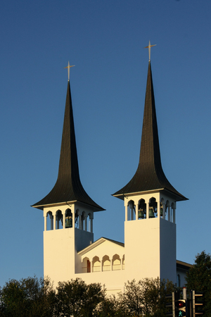 protestant: View of protestant church in Reykjavik, Iceland