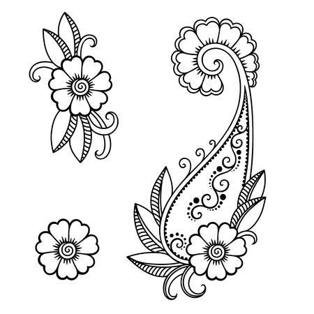 Henna tattoo flower template.Mehndi. Stock Vector - 52753186