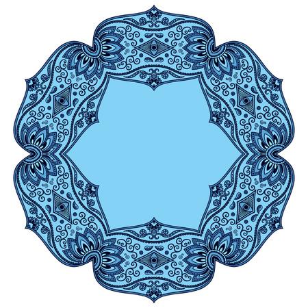 mandala: Vector color mandala. Mehndi style.