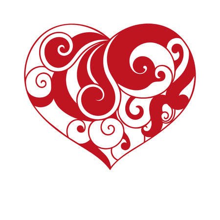 romance: Red heart.