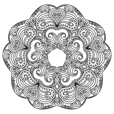 tatoo: Vector henna tatoo mandala. Mehndi style.