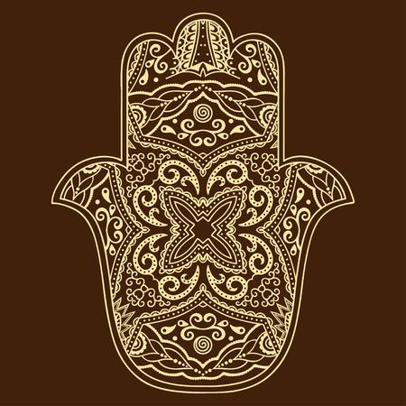 Vector hamsa hand drawn symbol