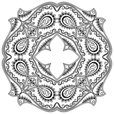 henna tattoo: henna tattoo mandala. Mehndi style.