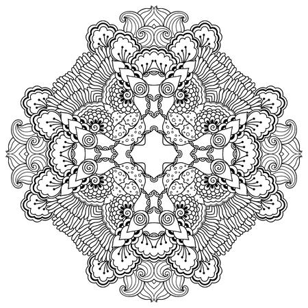 henna: henna tattoo mandala. Mehndi style.