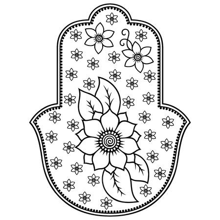 Hamsa hand drawn symbol