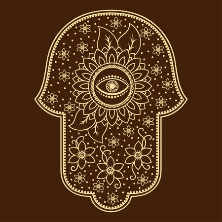 kabbalah: Hamsa hand drawn symbol
