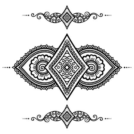henna tattoo: Henna tattoo flower template.Mehndi.