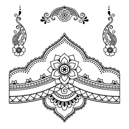 Tatuaje de henna template.Mehndi flor. Foto de archivo - 62199672
