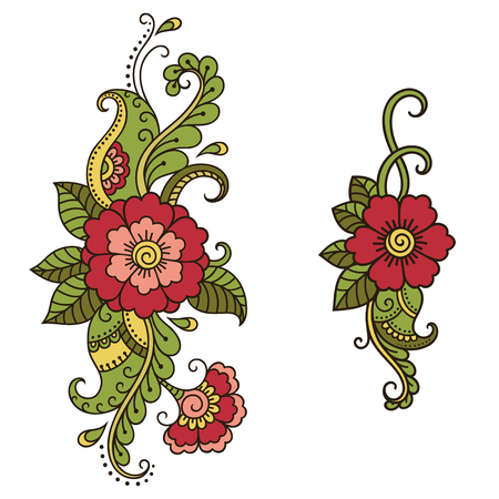 Vibrant full-color floral pattern. Decorative items made of flowers for decoration.