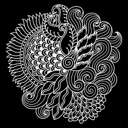 embellishment: Doodle pattern in black and white.