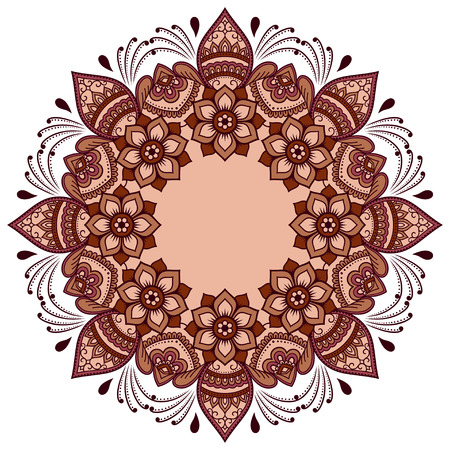 Color circular pattern - Mandala. The decoration in oriental style.