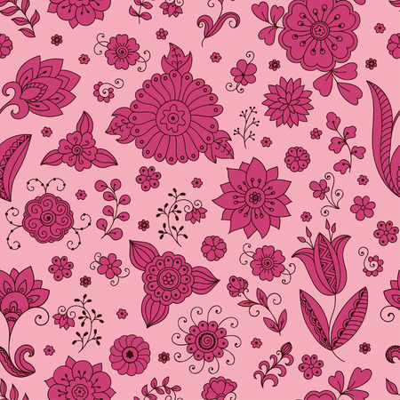 dcor: Seamless color flower pattern. Ornamental pattern for the decoration of fabrics, cards, backgrounds.