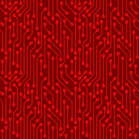 Seamless pattern of electronic boards. Abstract background of digital components. Wallpaper.