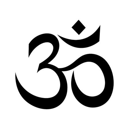 The symbol of the divine triad of Brahma, Vishnu and Shiva. Stock Vector - 73376371