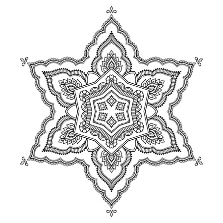 Circular pattern in the form of a mandala.