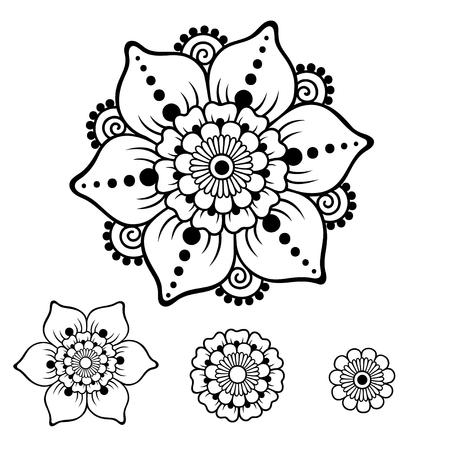 Flower mehndi style pattern.