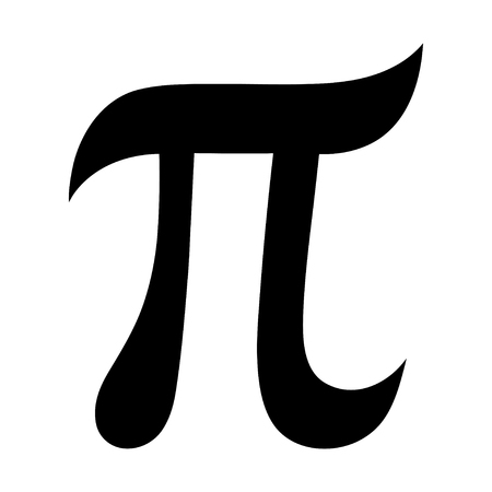 The Greek letter PI. The symbol of the mathematical constant. Isolated Vector Illustration, icon.