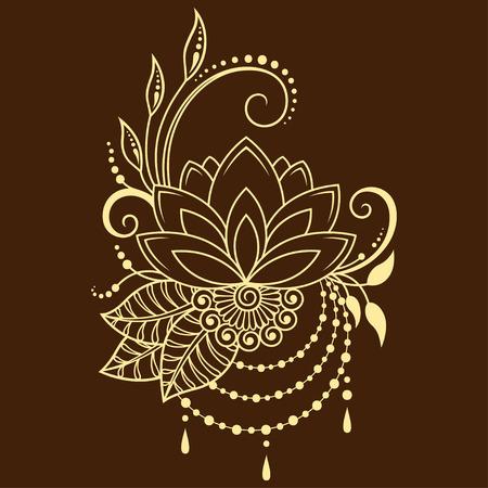 Mehndi lotus flower pattern for henna drawing and tattoo decoration mehndi lotus flower pattern for henna drawing and tattoo decoration in ethnic oriental indian mightylinksfo