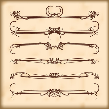 Nouveau style ornament elegance ornate scroll pattern Vector