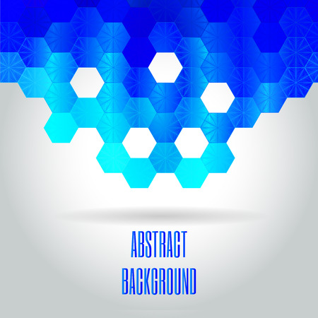 paillette: Blue modern geometrical abstract background. Vector Illustration