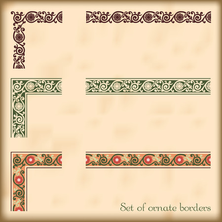 Corners and modular borders to create frames at any size