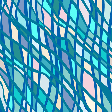 bold: Vector seamless bold pattern with wide brushstrokes and stripes in bright variety of colors Illustration
