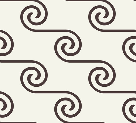 texture twisted: Seamless pattern with spiral curls. Vector repeating texture. Stylish background with linear twisted elements. Illustration