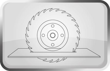 circular saw: Circular saw blade. Vector illustration.