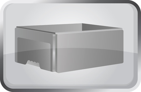 stockpile: Open box. Vector illustration. Thermobox, foam box